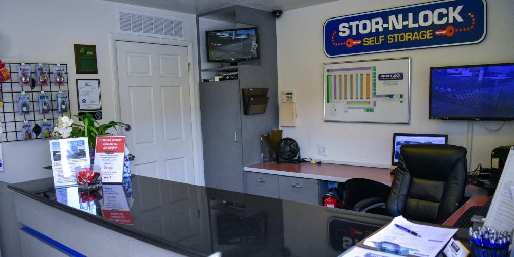 Inside the office at STOR-N-LOCK Self Storage in Cottonwood Heights, Utah