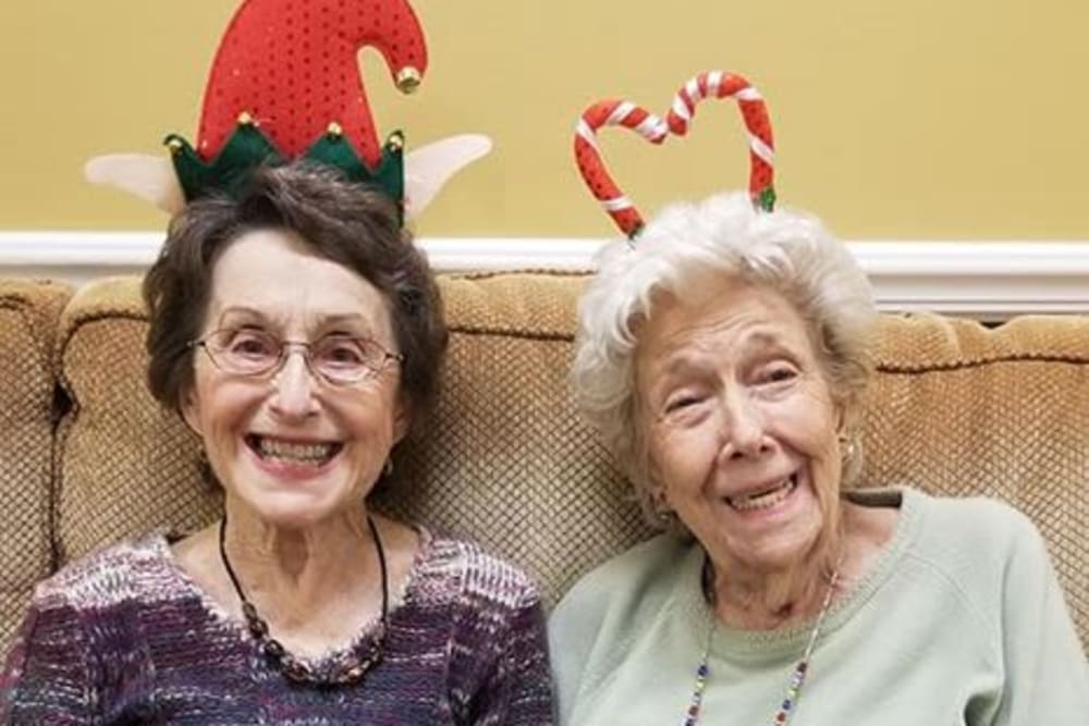 Residents celebrating the holidays at Rosewood Assisted Living in Lafayette, Louisiana