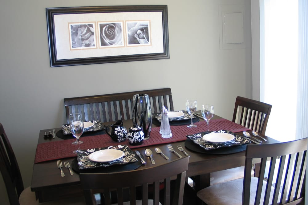 Beautiful dining room at apartments in Middle River, Maryland