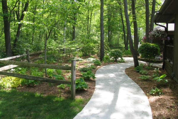 Walking paths at Lakeshore Woods, A Randall Residence in Fort Gratiot, Michigan