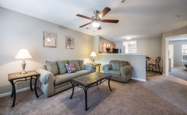 Open-concept floor plan at The Village at Brierfield Apartment Homes in Charlotte, North Carolina
