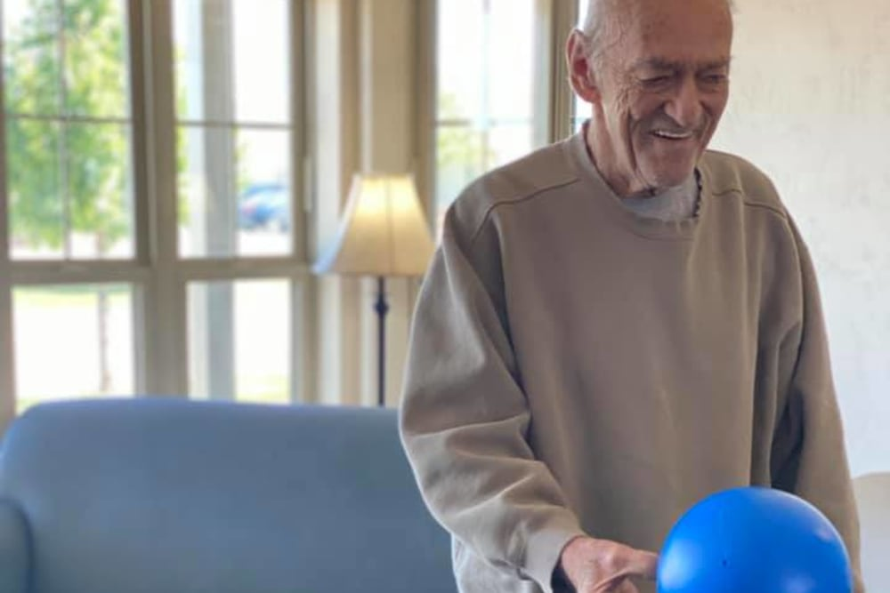 Residents can bowl at Apple Creek Place in Appleton, Wisconsin