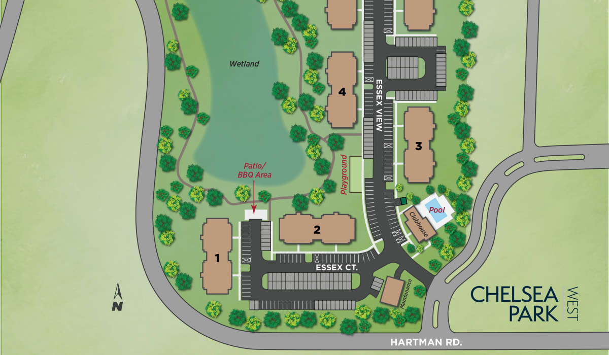 Our community's site plan at Chelsea Park West in Traverse City, Michigan