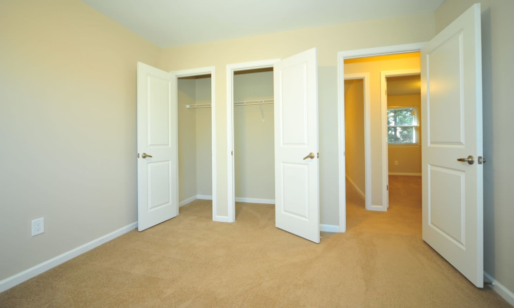 Spacious bedroom with closets at Towne Centre Place in Olney, Maryland