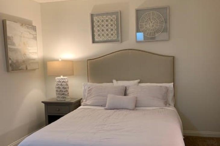 Bed at Sunrise Springs Apartments in Las Vegas, Nevada