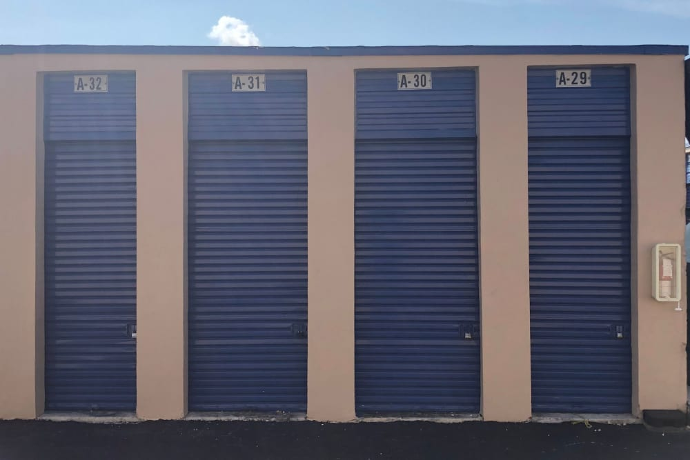 Units of all types here at self storage facility in Miami Gardens, FL