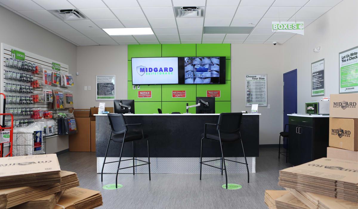 Leasing office at Midgard Self Storage in Bradenton, FL