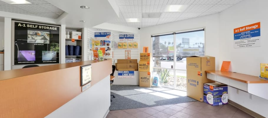 The leasing office at A-1 Self Storage in El Cajon, California
