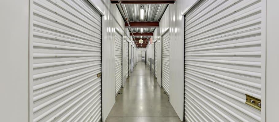 Indoor storage at A-1 Self Storage in La Habra, California