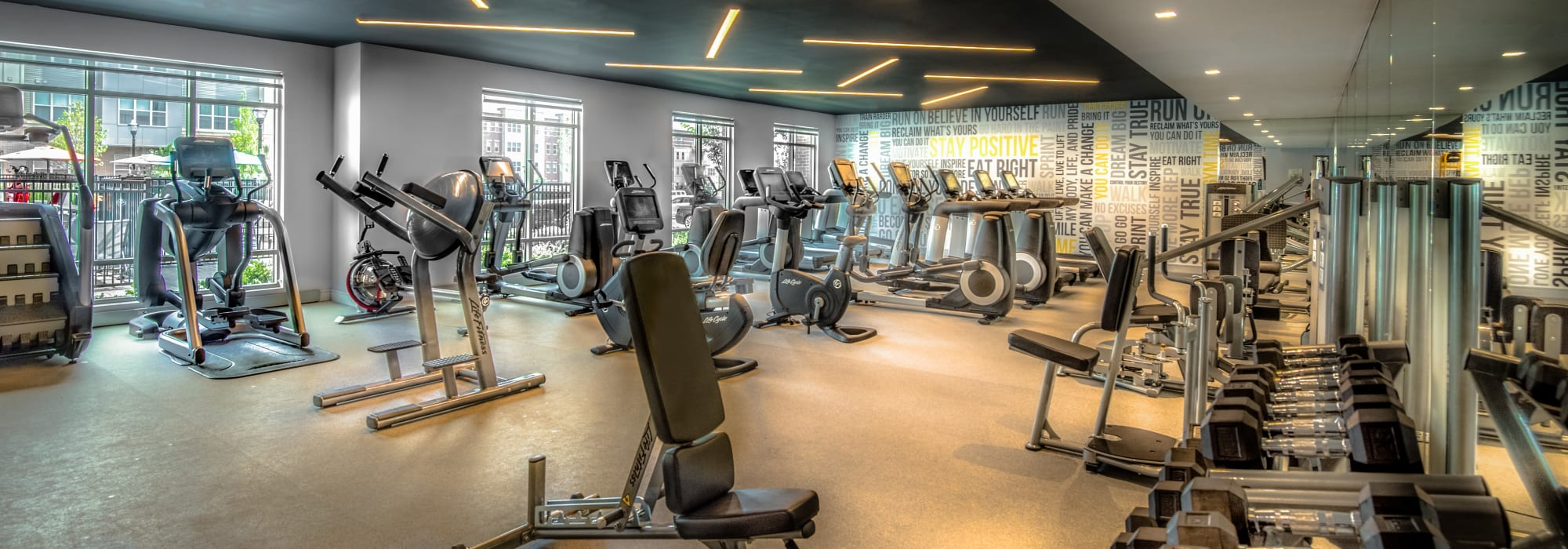 Fitness room at The Chase at Overlook Ridge in Malden, Massachusetts