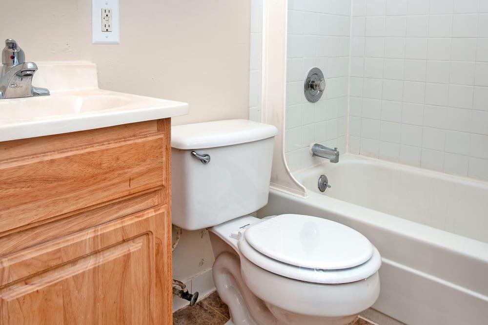 Apartments in Rosedale, Maryland showcase a modern bathroom