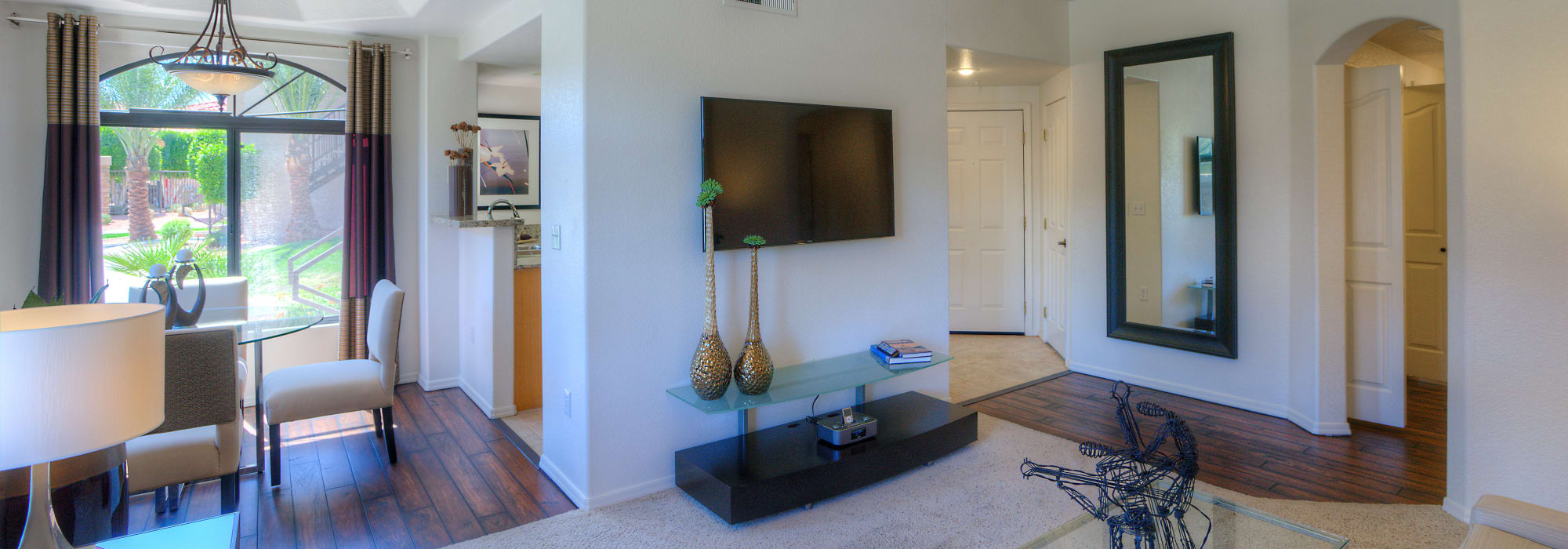 Living room and dining room at San Lagos in Glendale, Arizona