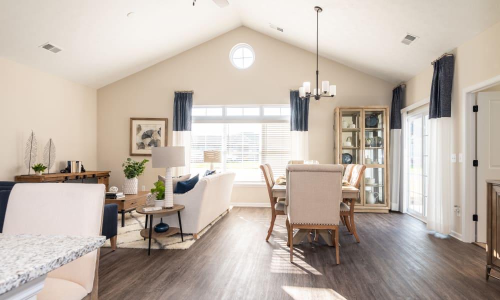 Sunlit villa living room at Randall Residence in Lawton, Michigan