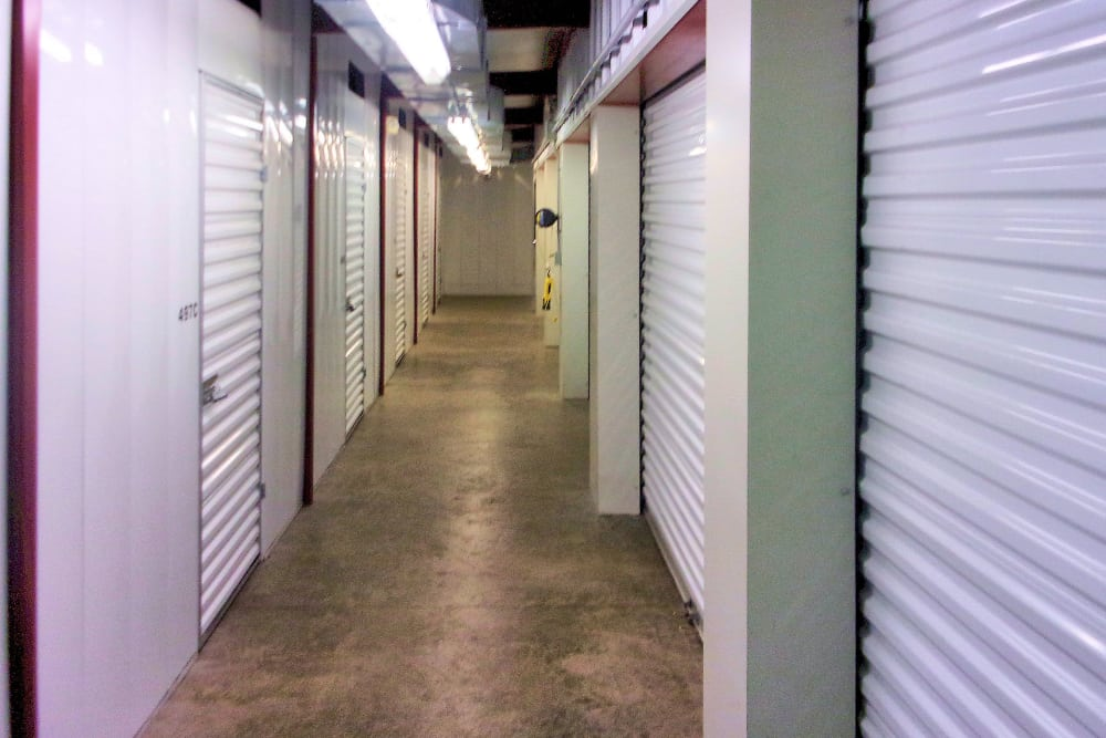 Indoor storage units at Prime Storage in Wells, Maine