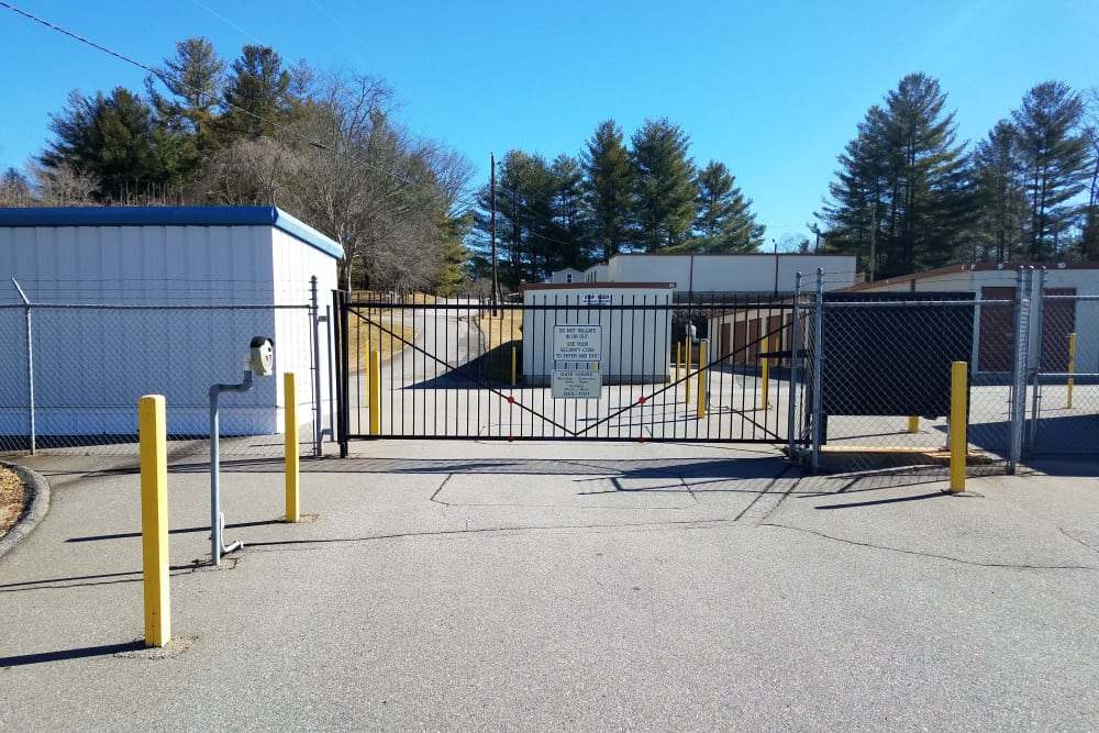 Secure access gate at Monster Self Storage in Asheville, North Carolina