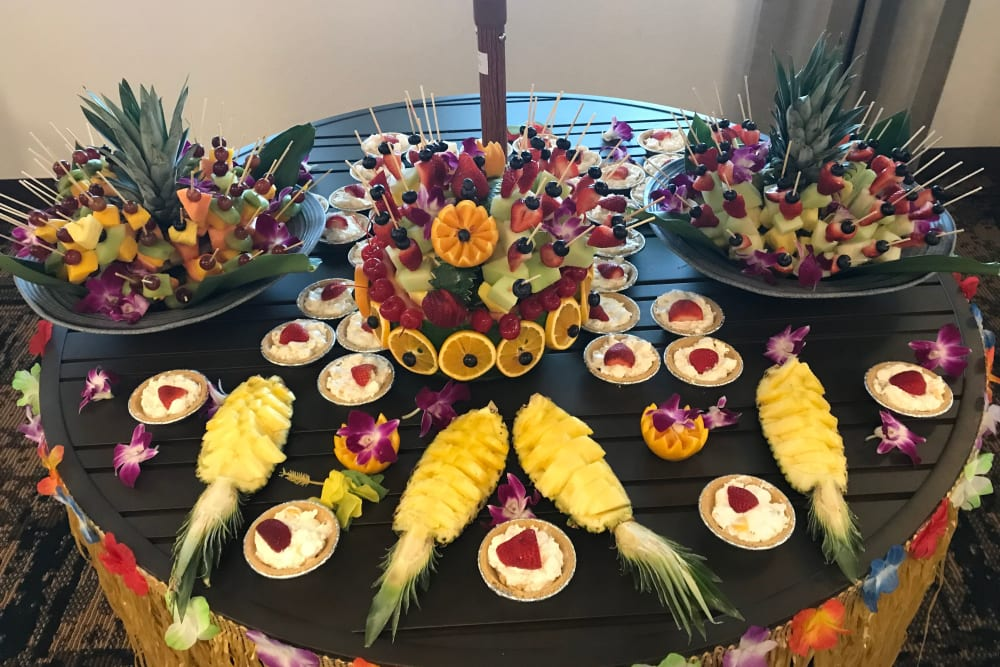 Luau food at Pine Grove Crossing in Parker