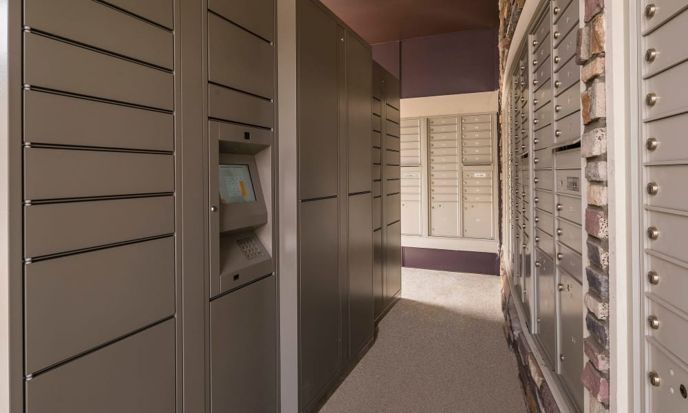Onsite mailboxes at Strata Apartments