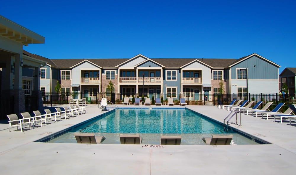 Poolside patio at Springs at Sun Prairie