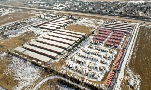 Loveland, Colorado storage facility Aerial View
