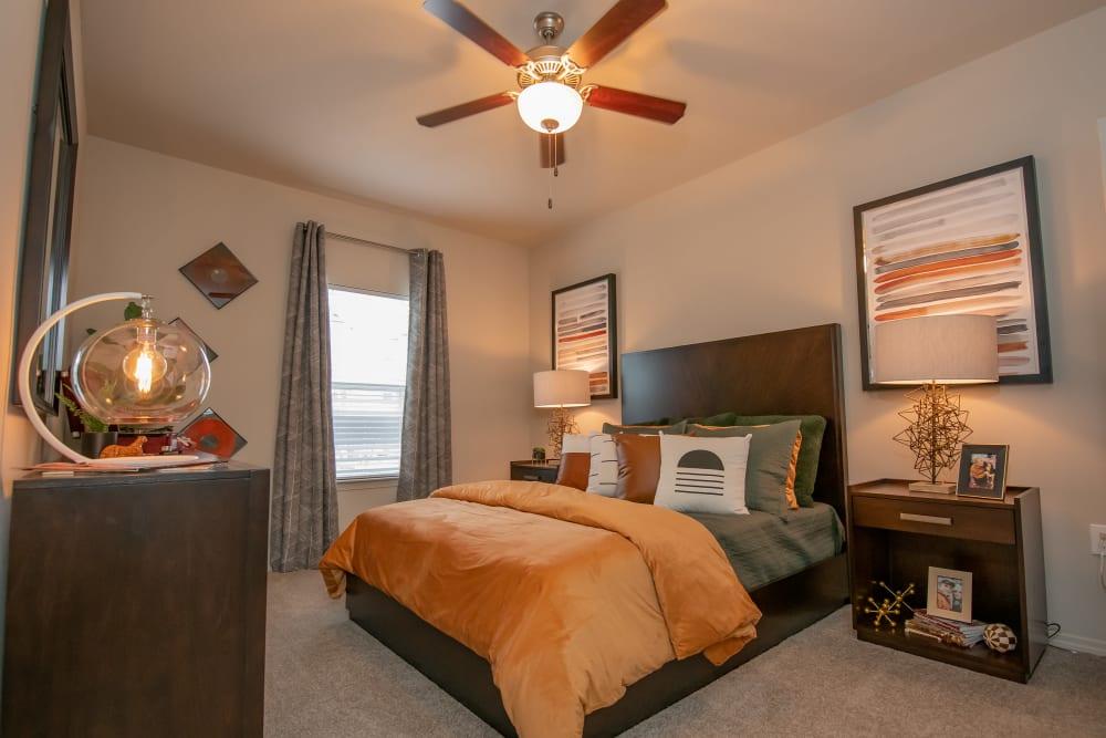 Cozy bedrooms at Cedar Ridge in Tulsa, Oklahoma.