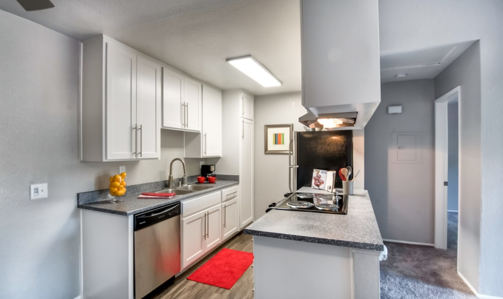 Unique kitchen at apartments in Chula Vista, California