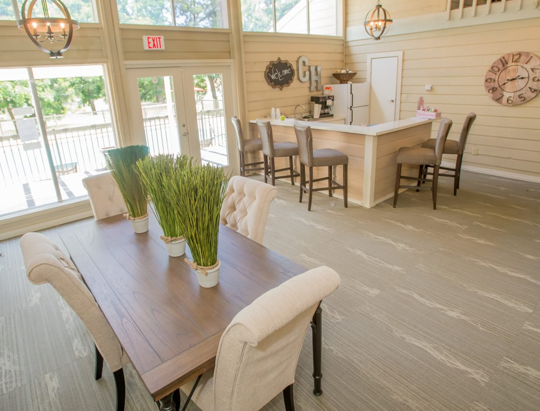 Luxury clubhouse at Country Hollow in Tulsa, Oklahoma