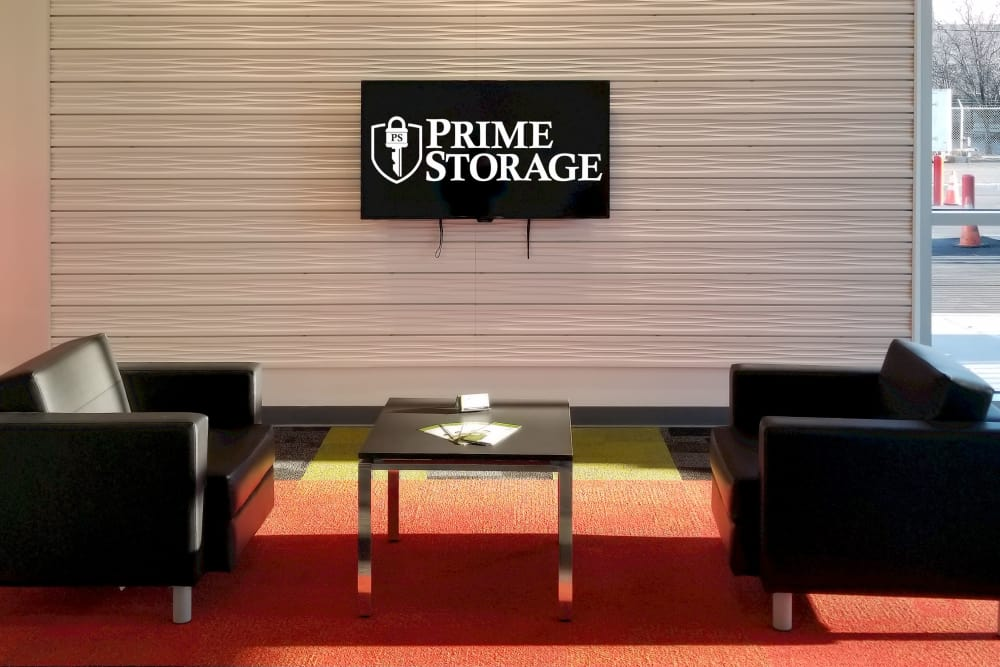 Lobby area at Prime Storage in Albany, New York