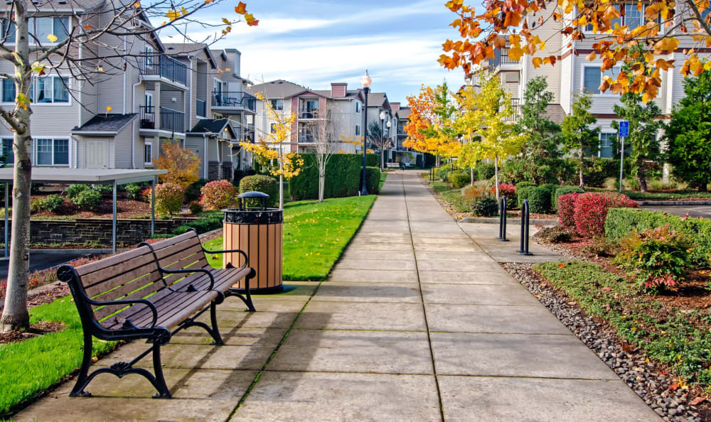 Take a seat and enjoy the beautiful scenery at Sofi at Cedar Mill in Portland, OR