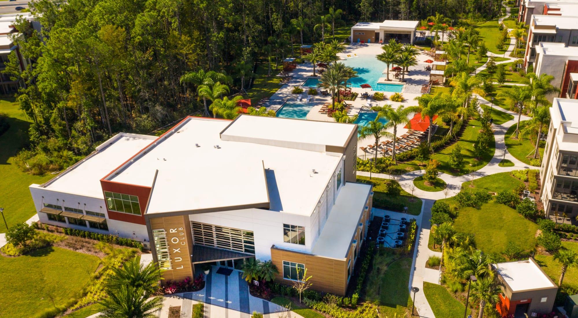Luxury apartments at Luxor Club in Jacksonville, Florida
