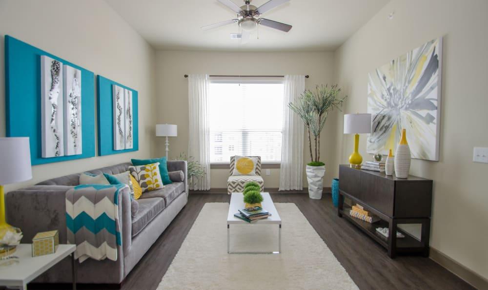open floor plan at GreenVue Apartments