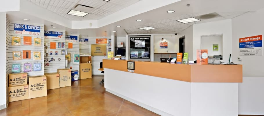 The leasing office at A-1 Self Storage in Lakeside, California