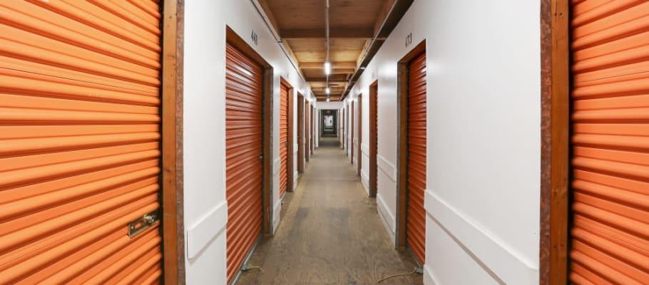 Indoor storage units at A-1 Self Storage in San Diego, California