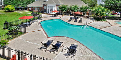 Swimming pool at apartments in Gulfport, Mississippi