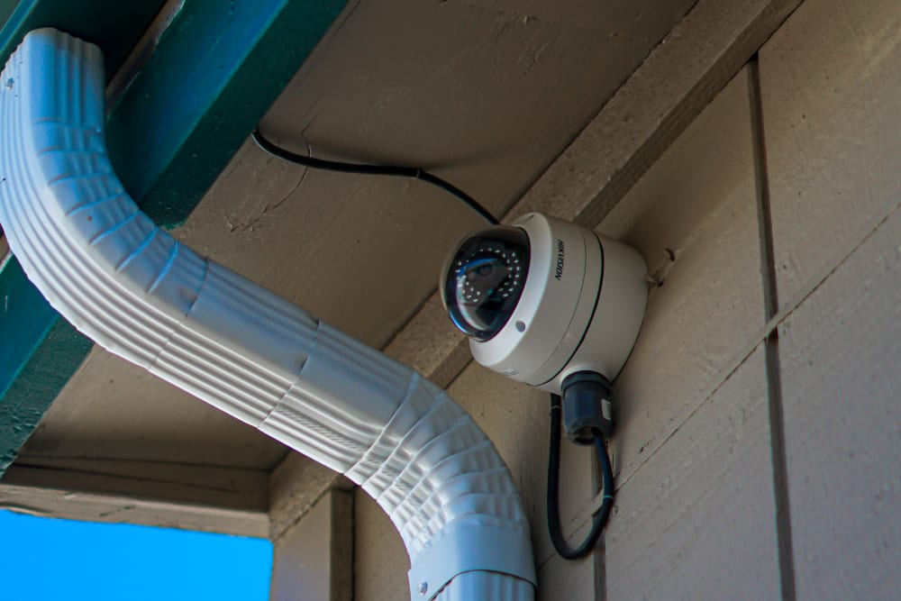 A security camera at Security First Storage in Salem, Oregon