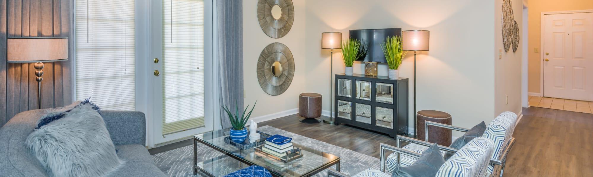 Floor plans at One Rocky Ridge Apartment Homes in Douglasville, Georgia