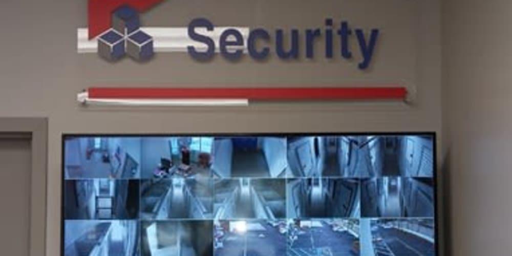 Security camera screen at Devon Self Storage
