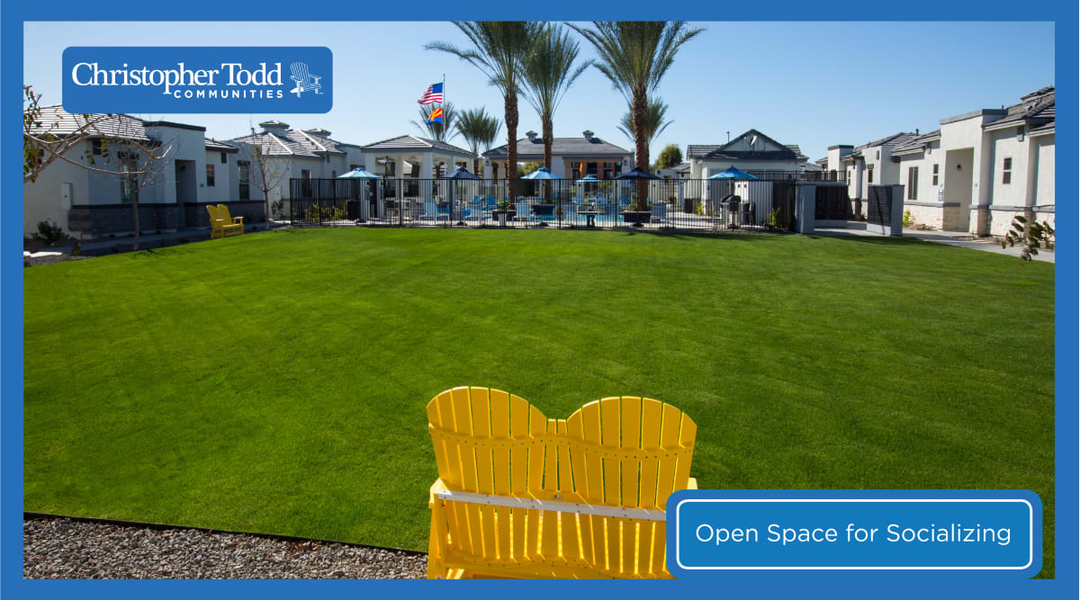 Large grassy area to socialize at Christopher Todd Communities On Camelback in Litchfield Park, Arizona