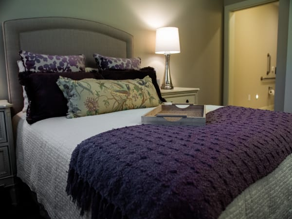 Inviting bedroom at Westminster Memory Care in Lexington, South Carolina.