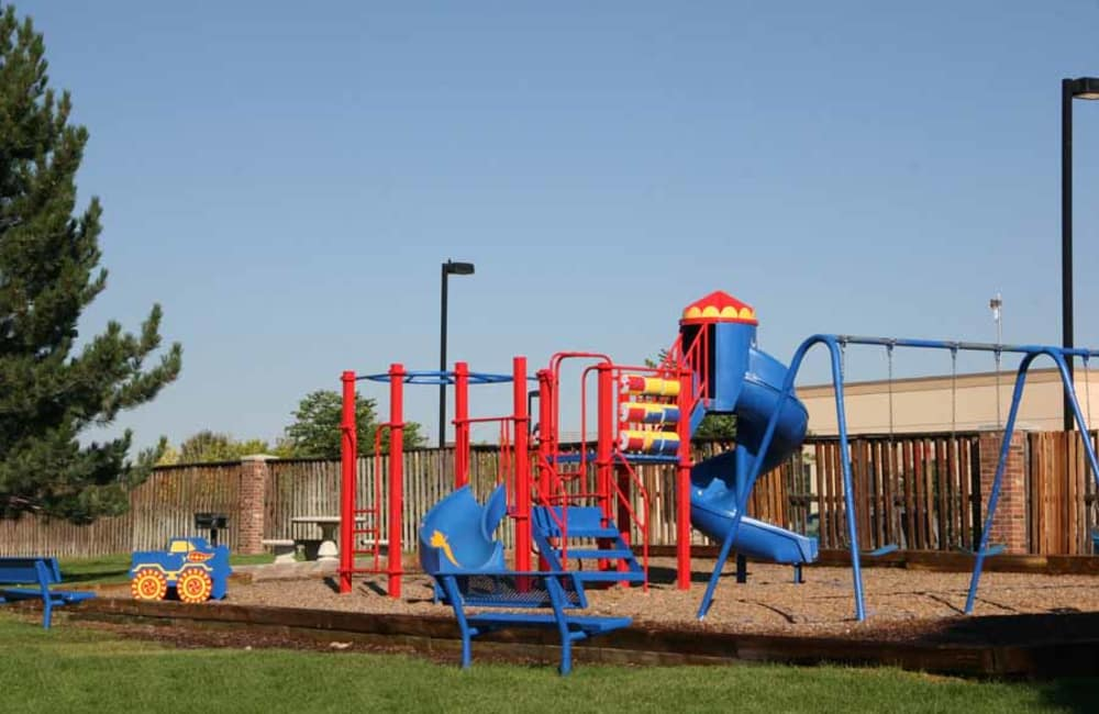 The kids will enjoy the playground at Montair Apartment Homes in Thornton, CO