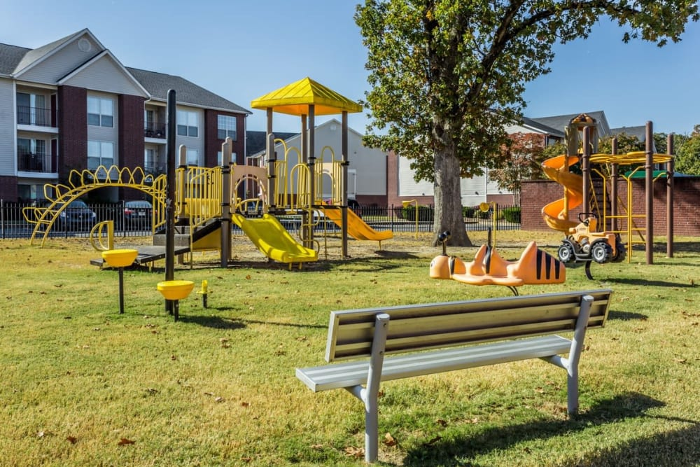 Playground at River Pointe in North Little Rock, Arkansas.
