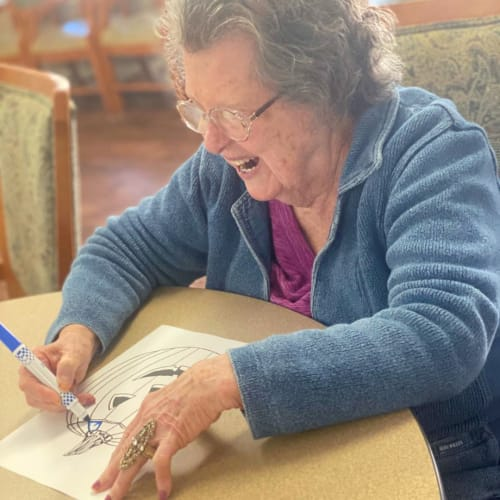 A resident drawing at FountainBrook in Midwest City, Oklahoma