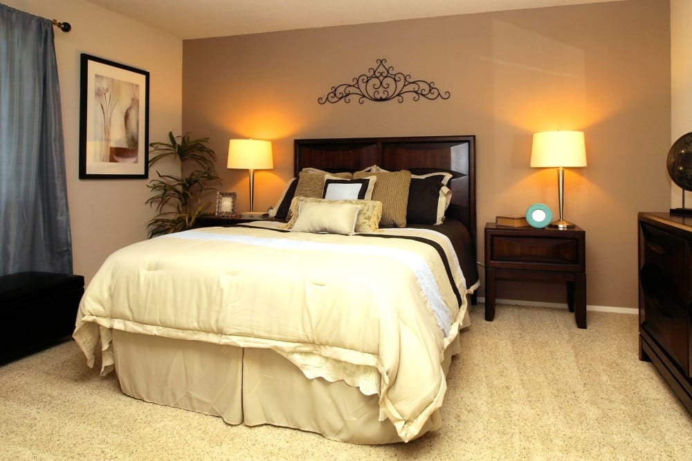 Beautiful bedroom at Deer Valley Apartment Homes in Roseville, California