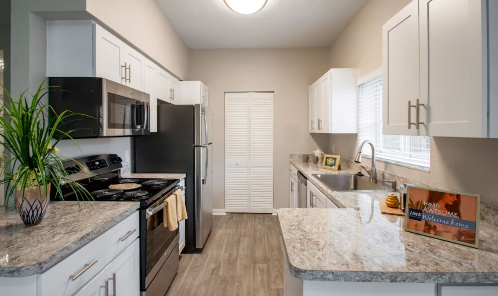 Beautiful kitchen at IMT Pinebrook Pointe in Margate, Florida