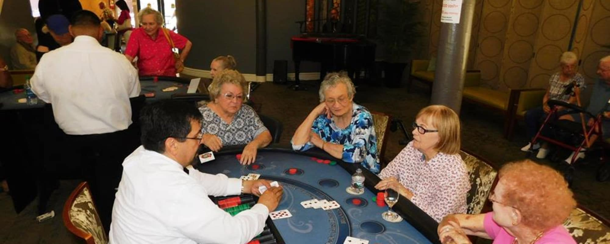 Seniors gambling at The Inn at Greenwood Village in Greenwood Village, Colorado