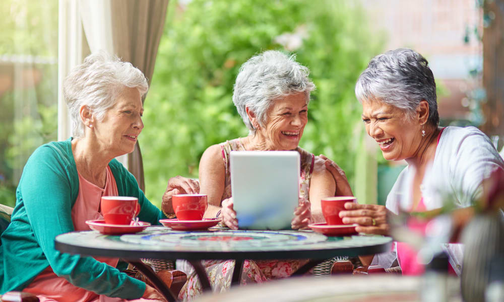 Image result for women enjoying coffee