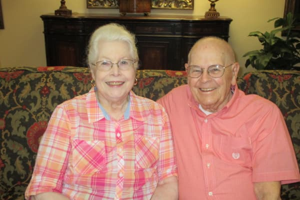 Jack and Sandra Griffis at Sterling Heights Gracious Retirement Living in Bethlehem, Pennsylvania