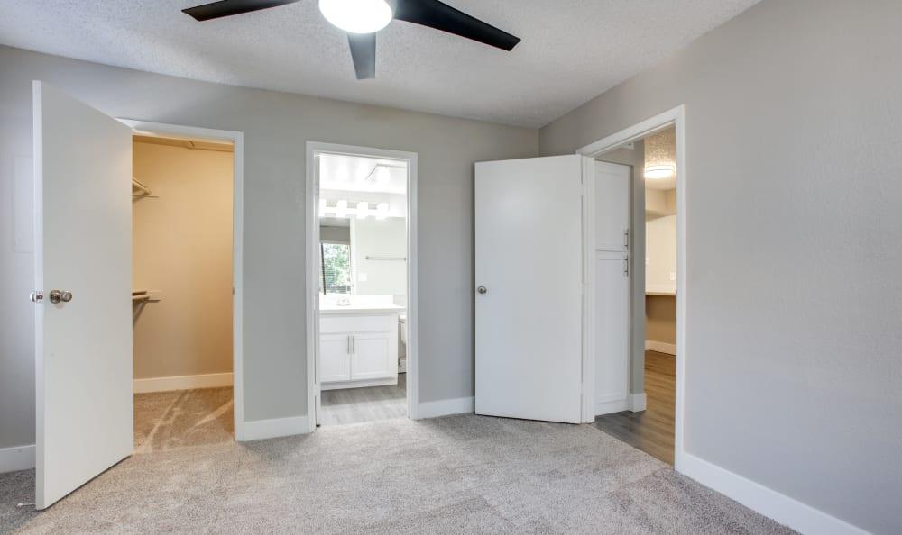 Hallway area in an apartment in Tempe, Arizona