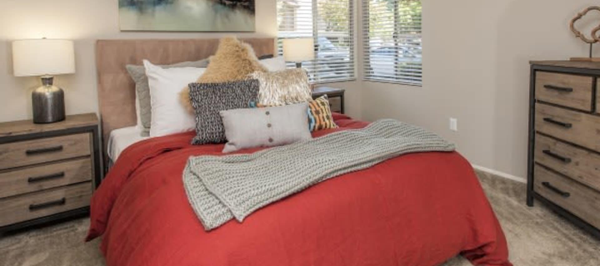 Spacious resident bedroom at Shore Park at Riverlake in Sacramento, California