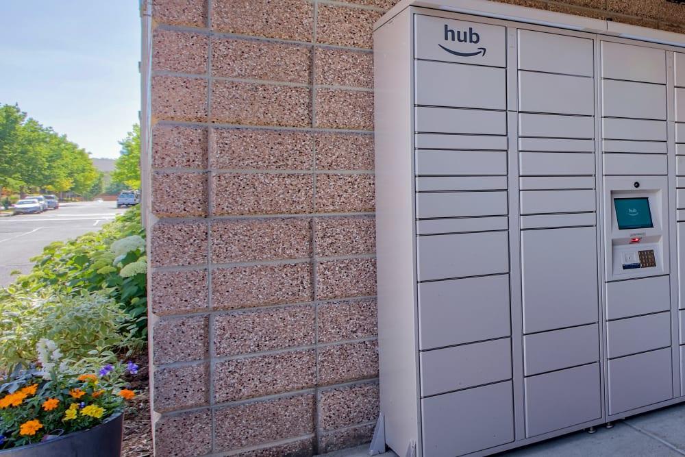 Amazon HUB package lockers At Downtown Belmar Apartments In Lakewood CO