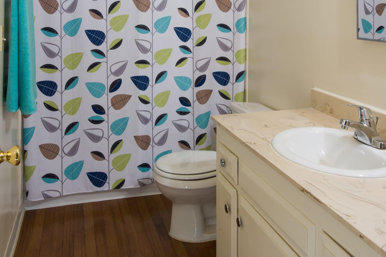 Bathroom at Chatham Village in Tustin, California